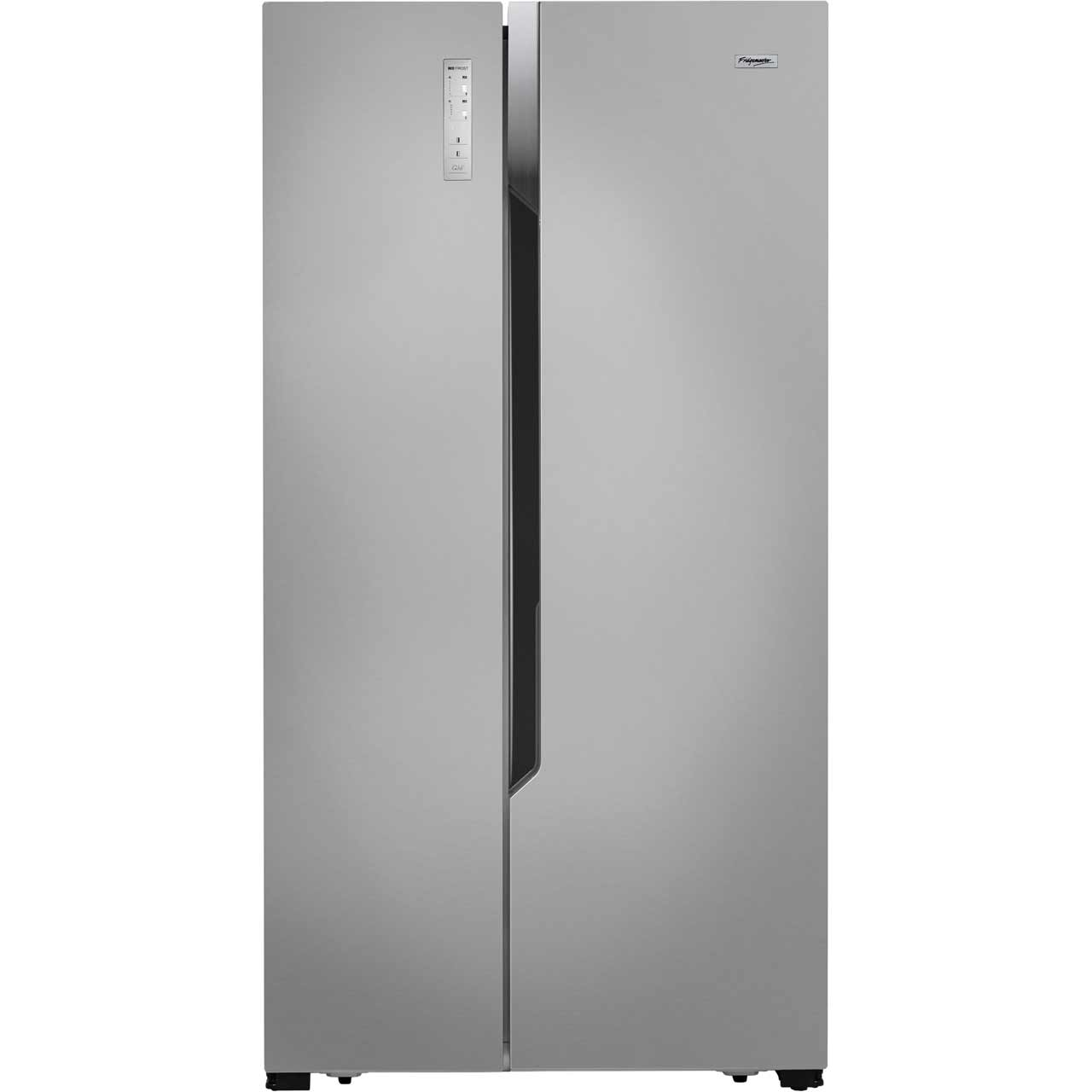 Fridgemaster MS91518FFS Free Standing American Fridge Freezer in Silver