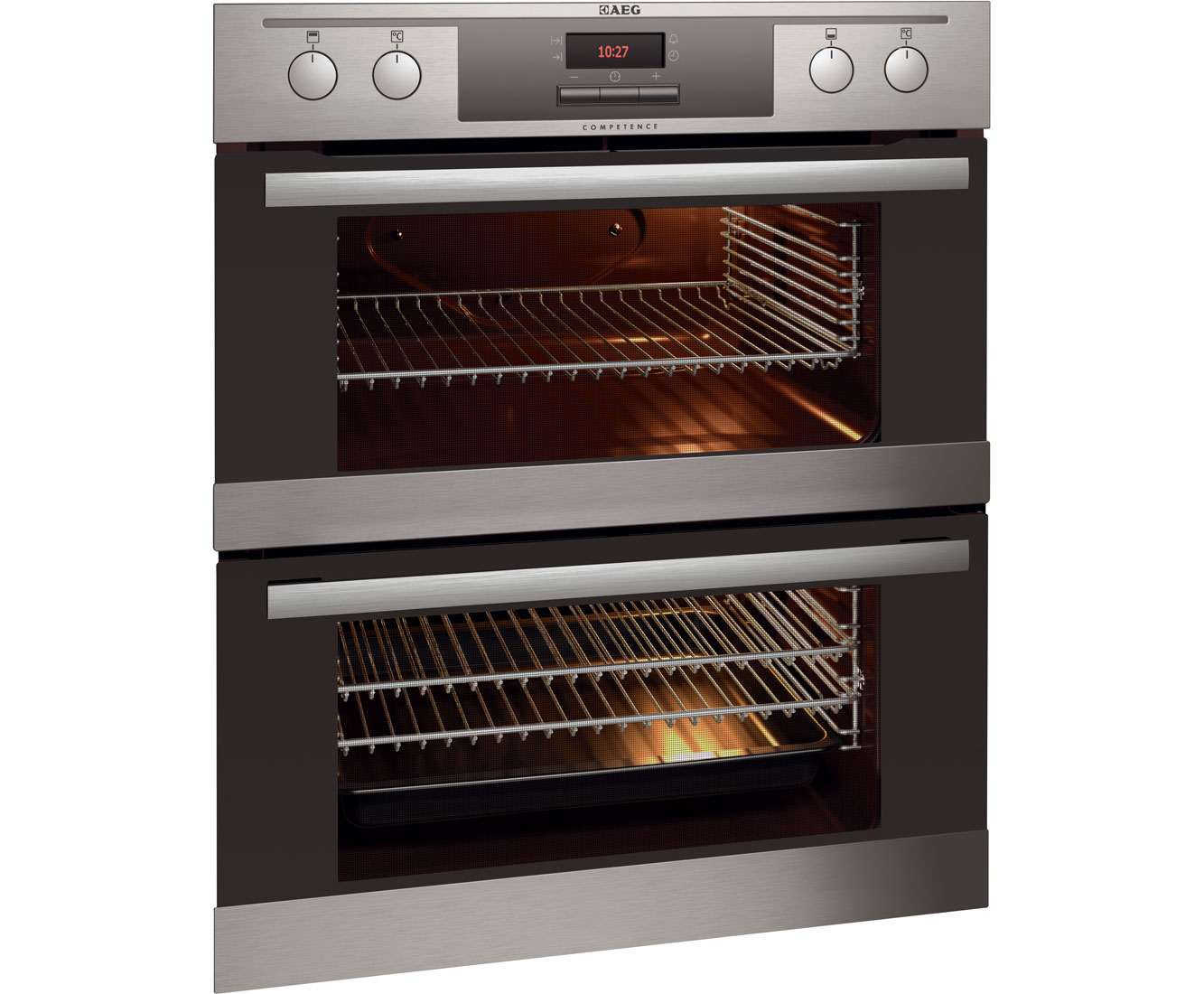 AEG NC4003020M Built Under Double Oven - Stainless Steel
