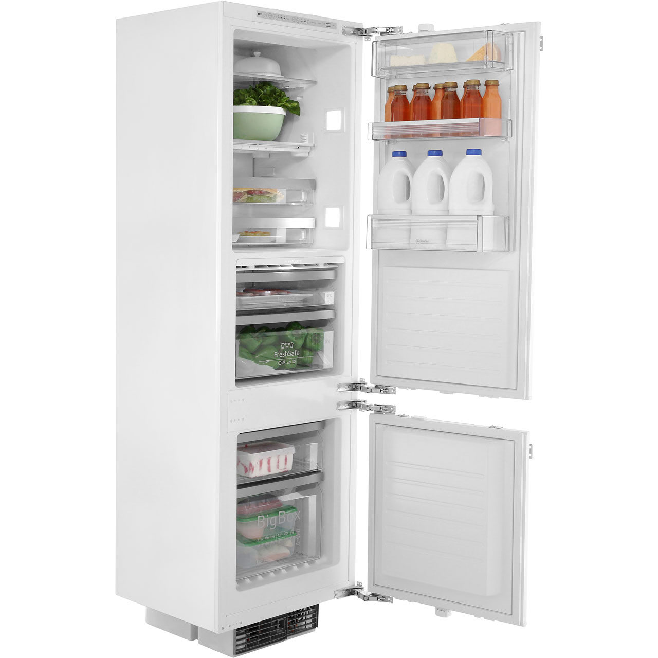 8b837fd6477 ... NEFF N90 K8345X0 Integrated 70 30 Frost Free Fridge Freezer with Fixed  Door Fixing Kit ...