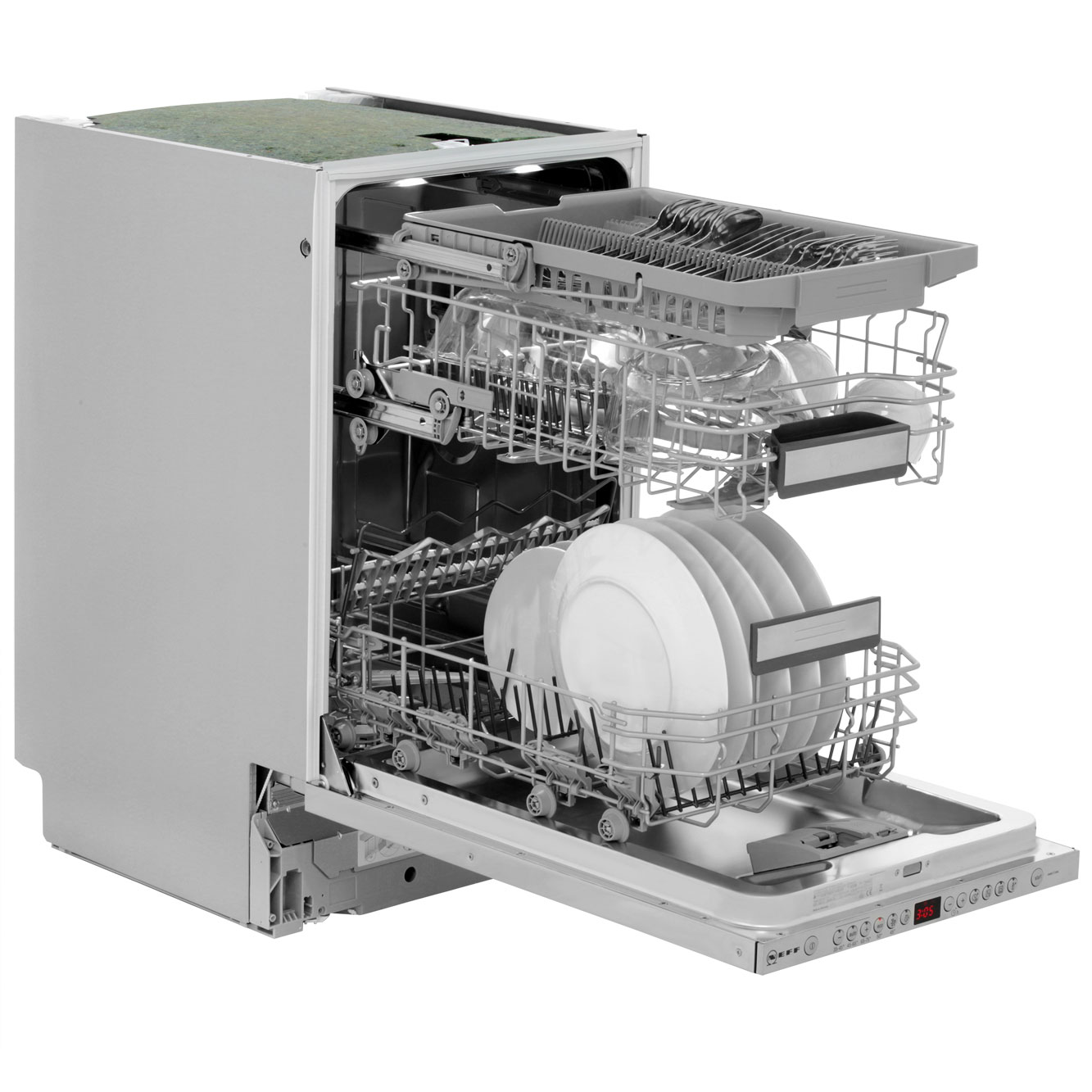 Small Dish Washer Neff S58t69x1gb Fully Integrated Slimline Dishwasher Stainless