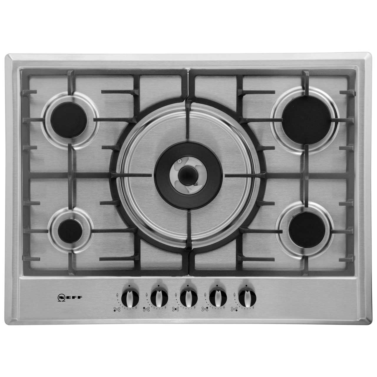 Neff T25S56N0GB Integrated Gas Hob in Stainless Steel