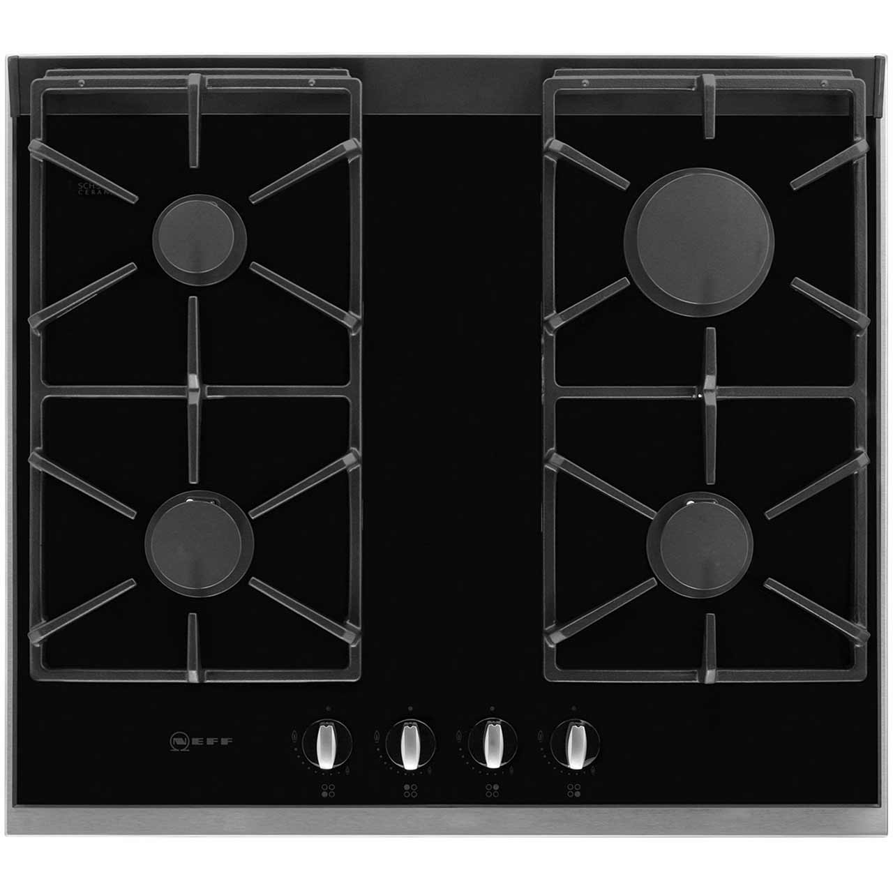 Neff T66S66N0 Integrated Gas Hob in Stainless Steel