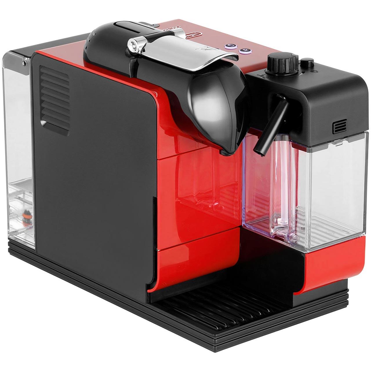 nespresso by en521r lattissima coffee machine red - Nespresso Delonghi