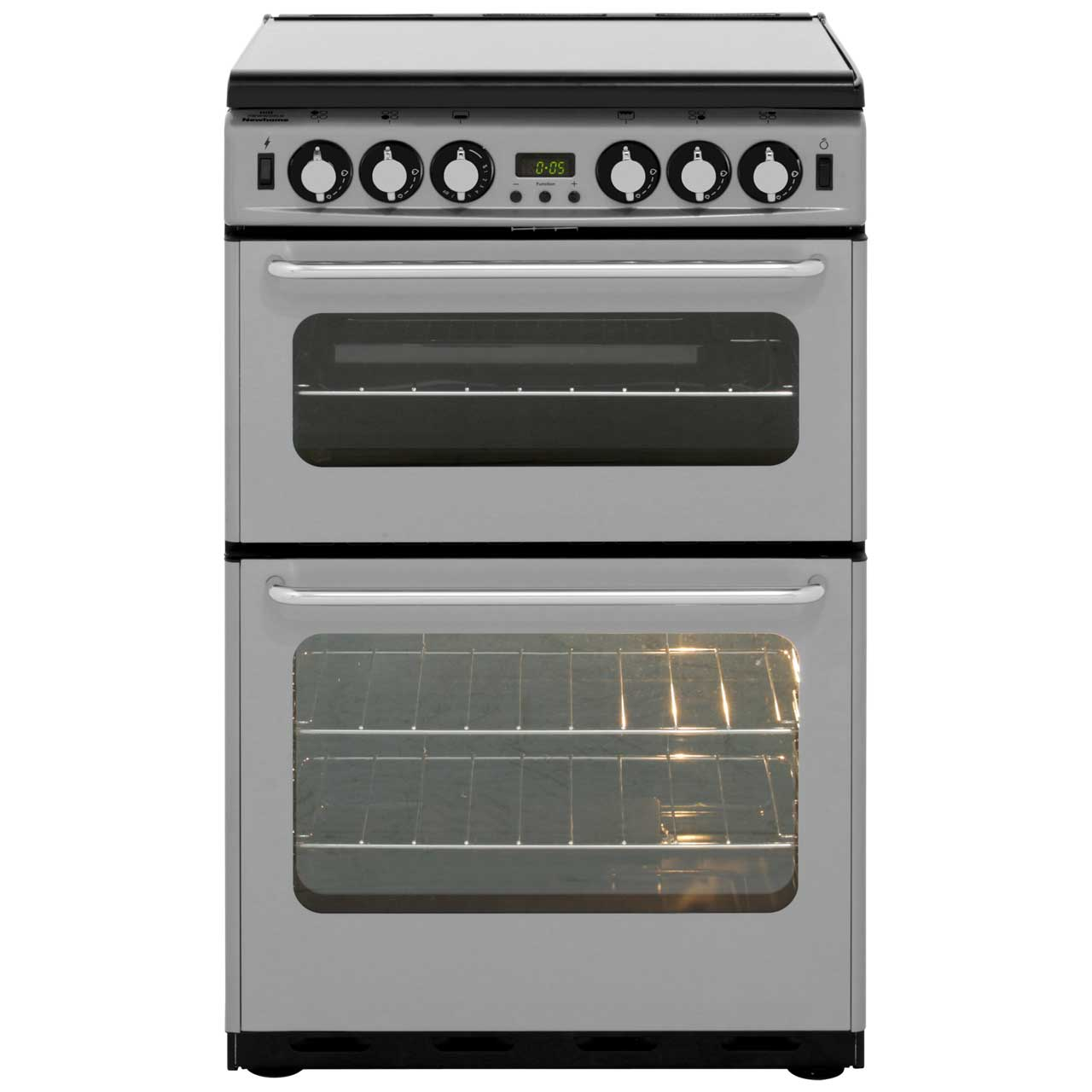 Newworld Newhome NW550TSIDLM Gas Cooker with Gas Grill - Silver