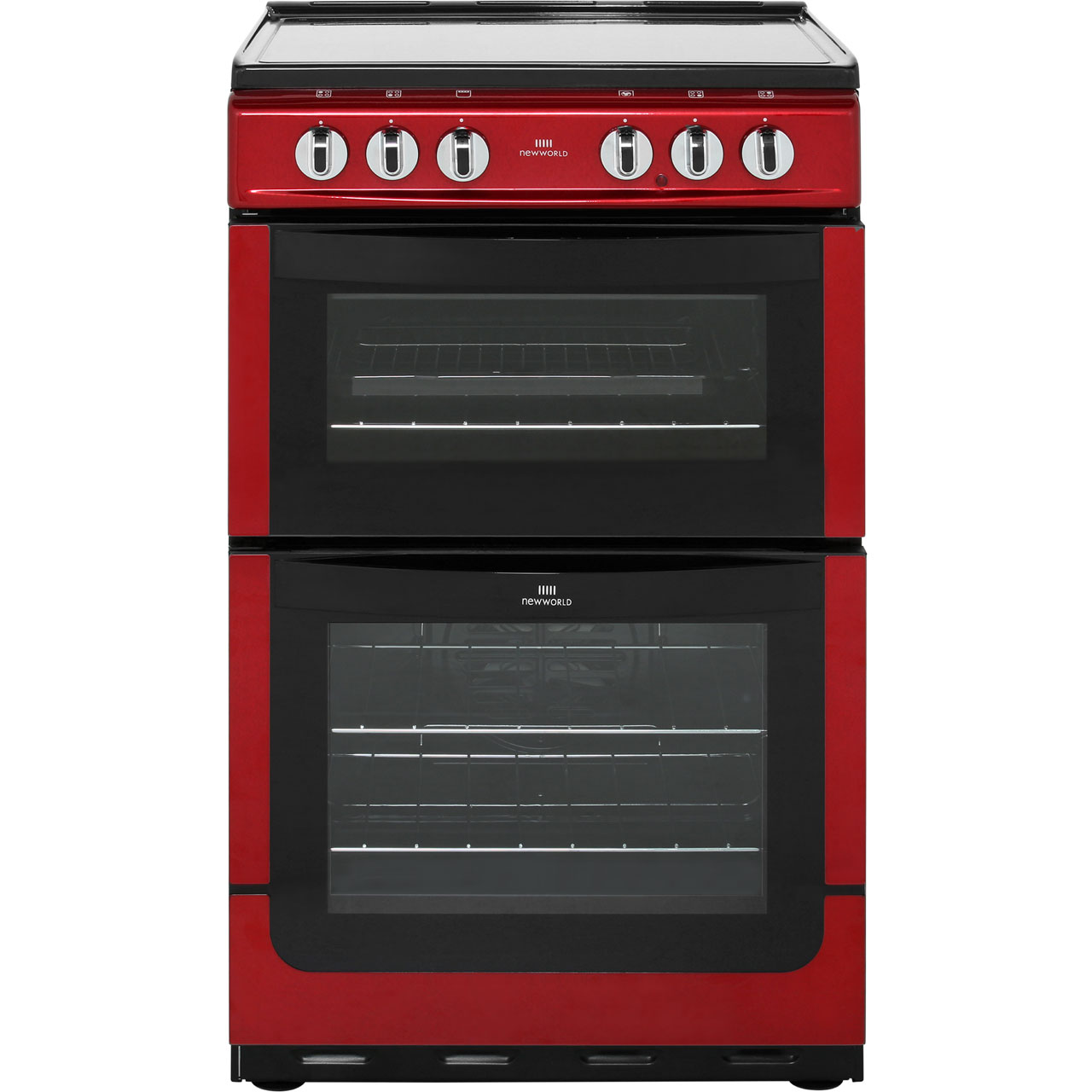 Newworld NW551ETC Electric Cooker with Ceramic Hob - Red