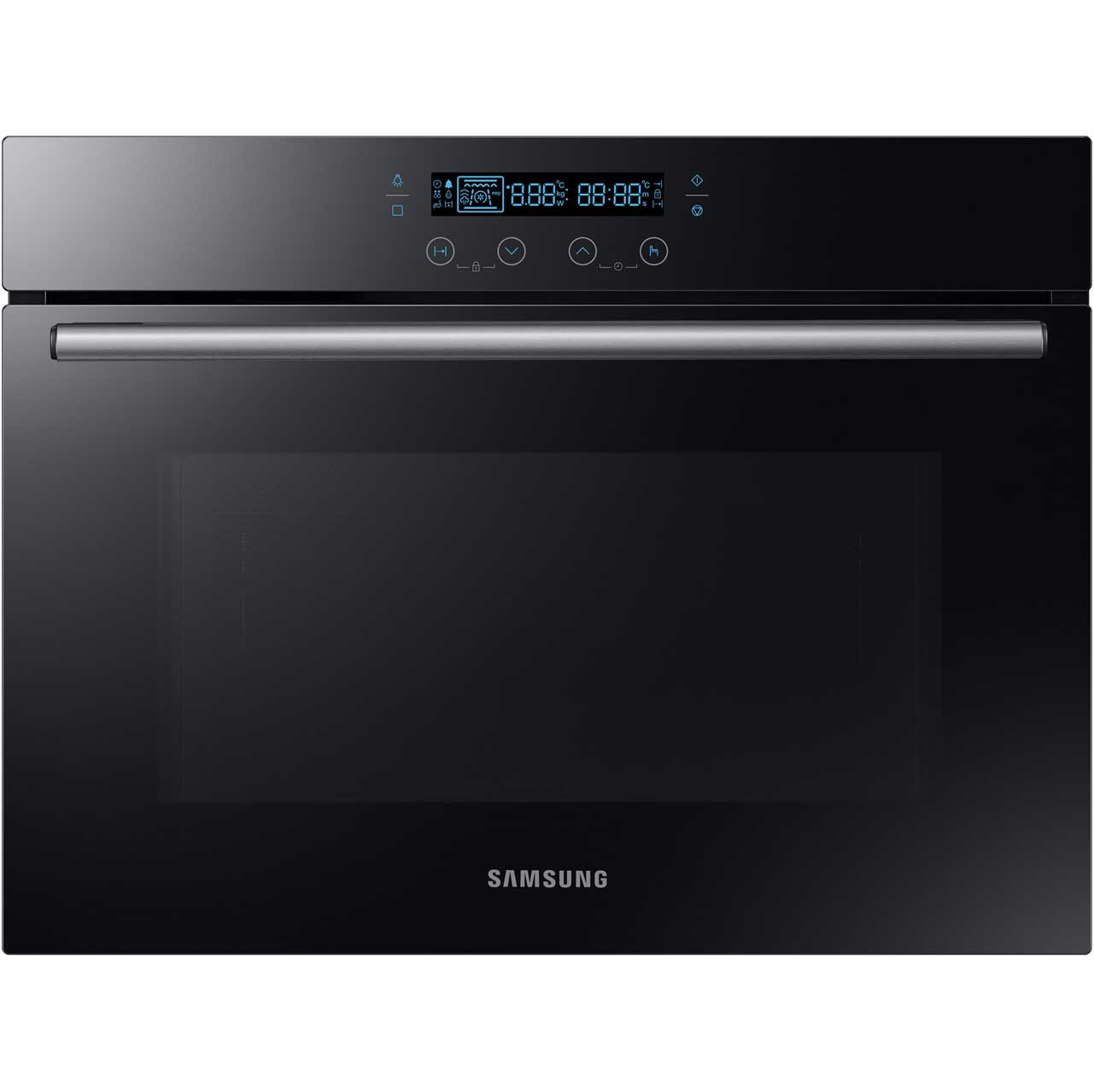 Samsung Prezio NQ50H5537KB Integrated Microwave Oven in Black Glass