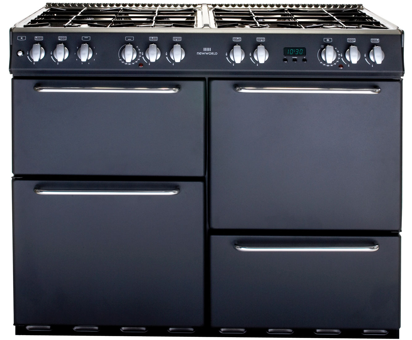 Newworld NW100GT 100cm Gas Range Cooker - Charcoal