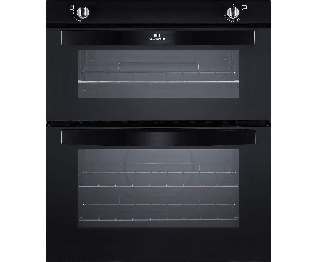 Newworld NW701G Built Under Gas Twin Cavity Single Oven - Black