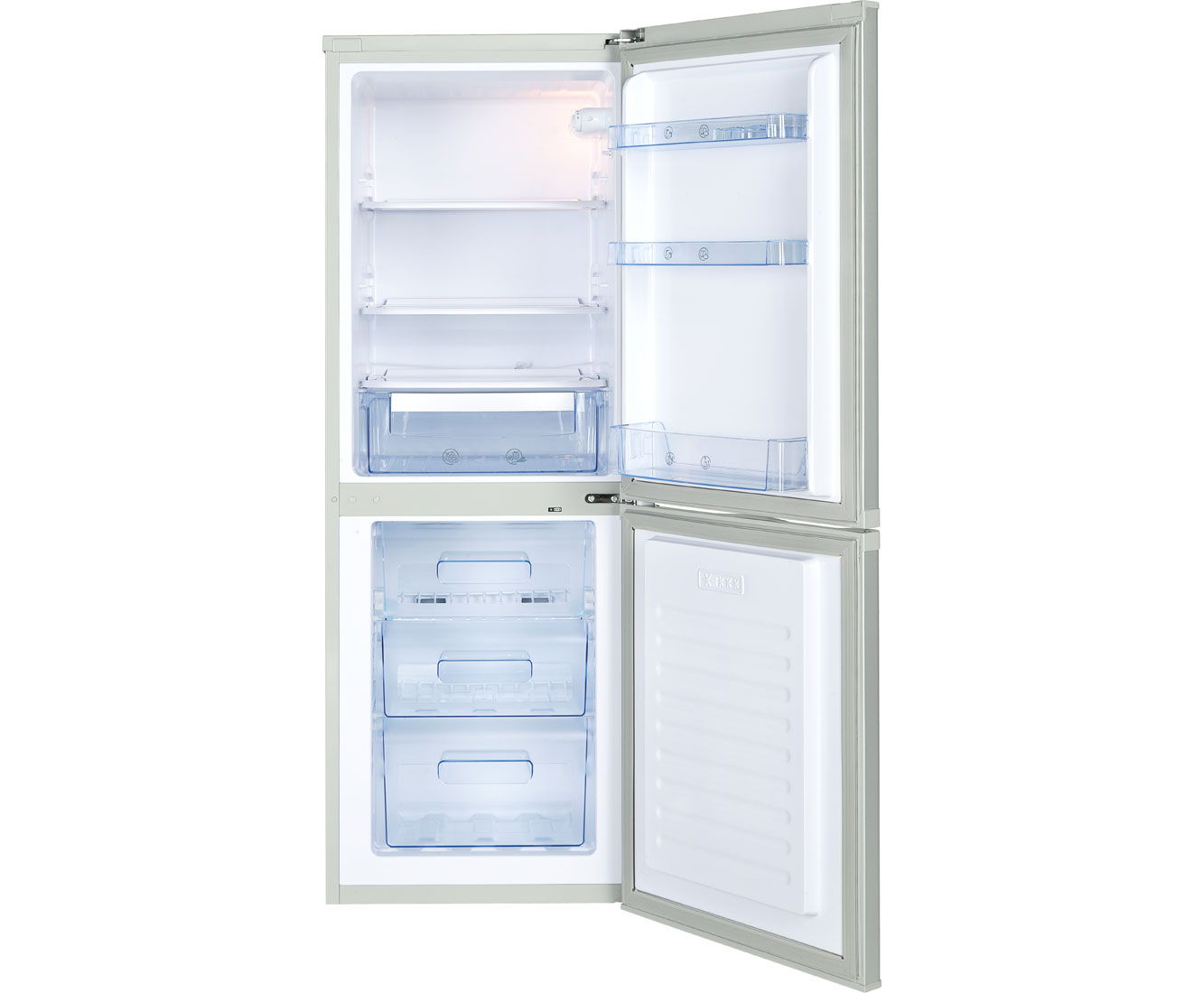 Newworld NWCOMFF5515S Free Standing Fridge Freezer Frost Free in Silver