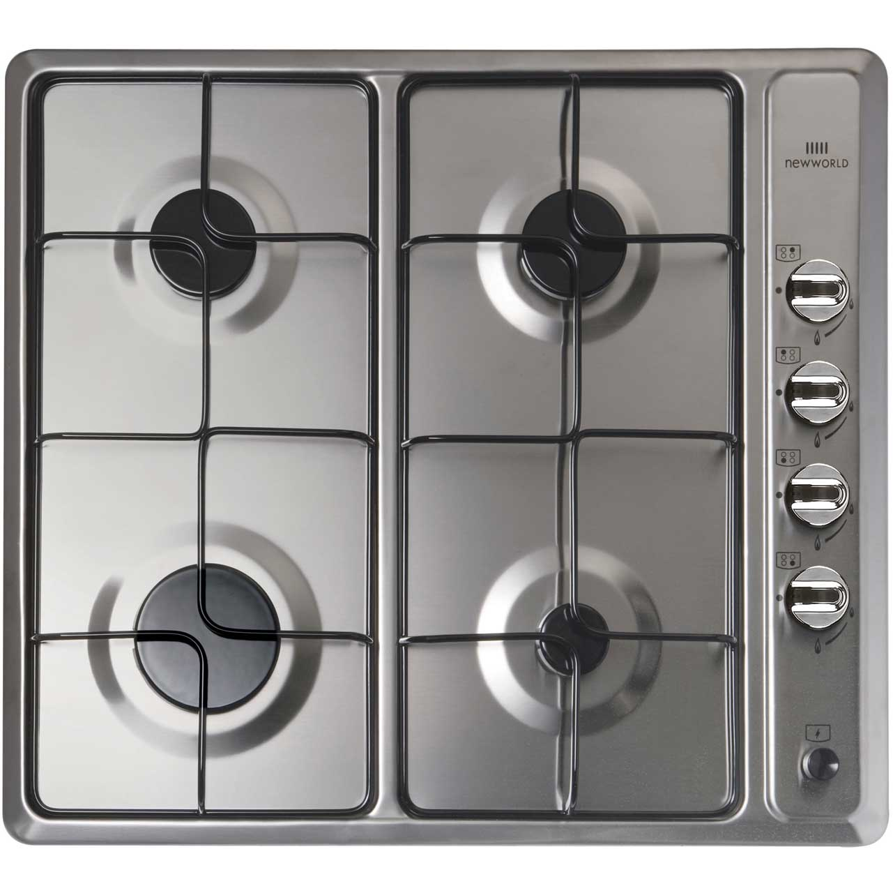 Newworld NWGHU601 58cm Gas Hob - Stainless Steel