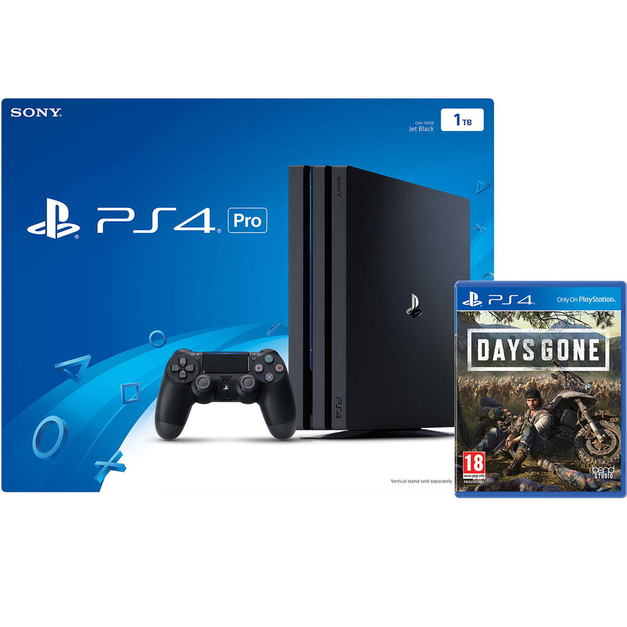 PlayStation 4 Pro 1TB with Days Gone (Disc) - Black