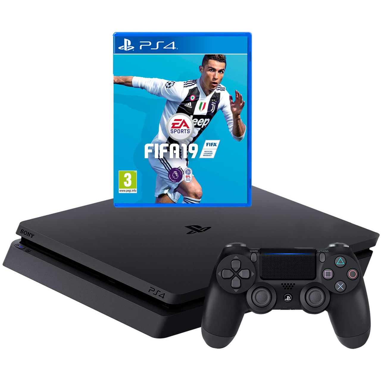 P4hehwsny74351 Playstation 4 500gb With Fifa 19 Sony Ps4 Black