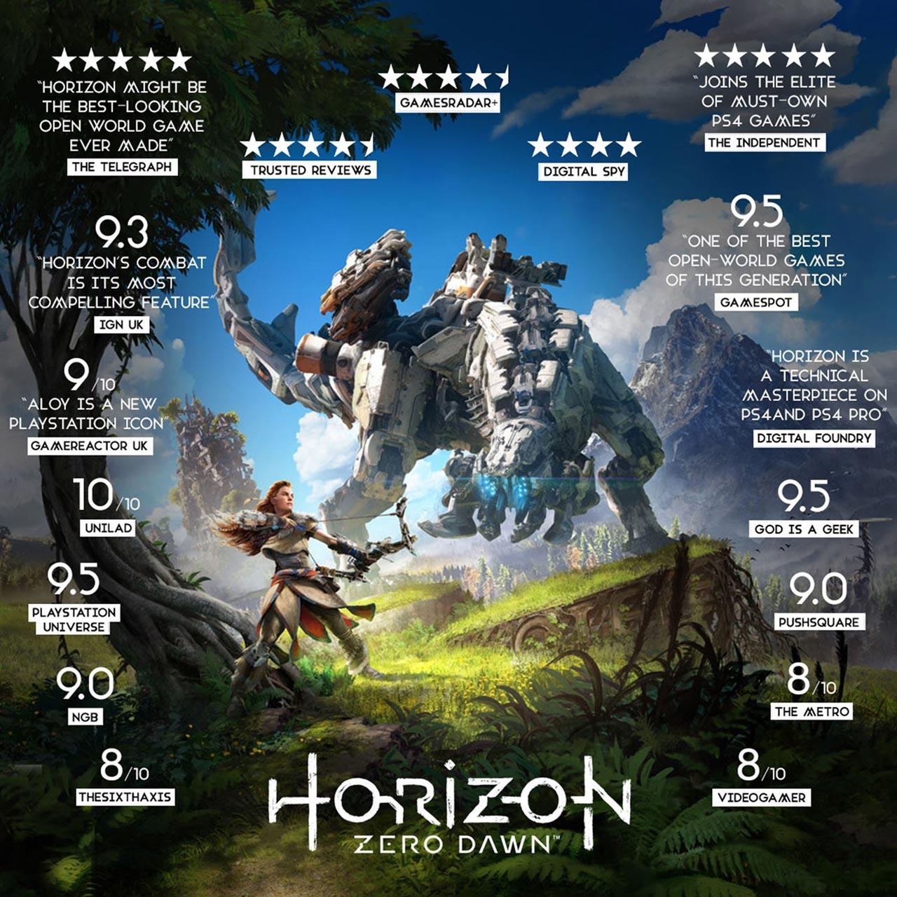 Sony Playstation P4reposny82446 Horizon Zero Dawn For Ps4 01 03 2017 4 Reg 3 49