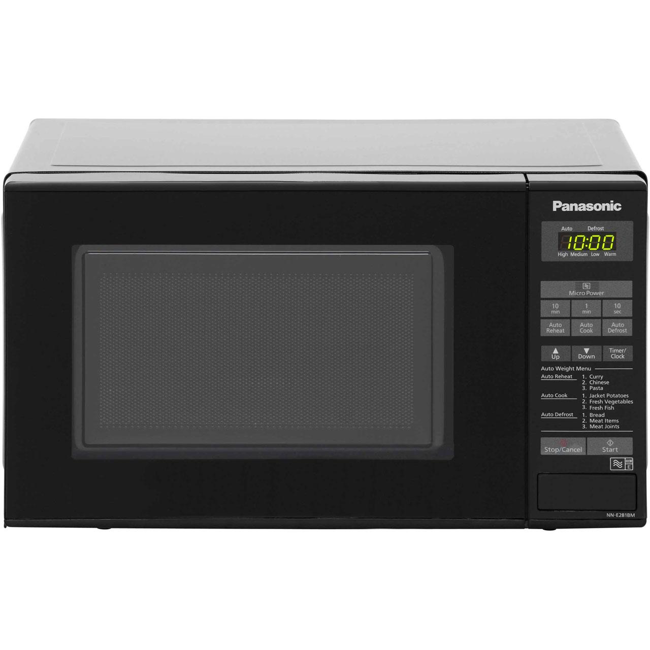 Panasonic Compact Nn E281bmbpq 20 Litre Microwave Black
