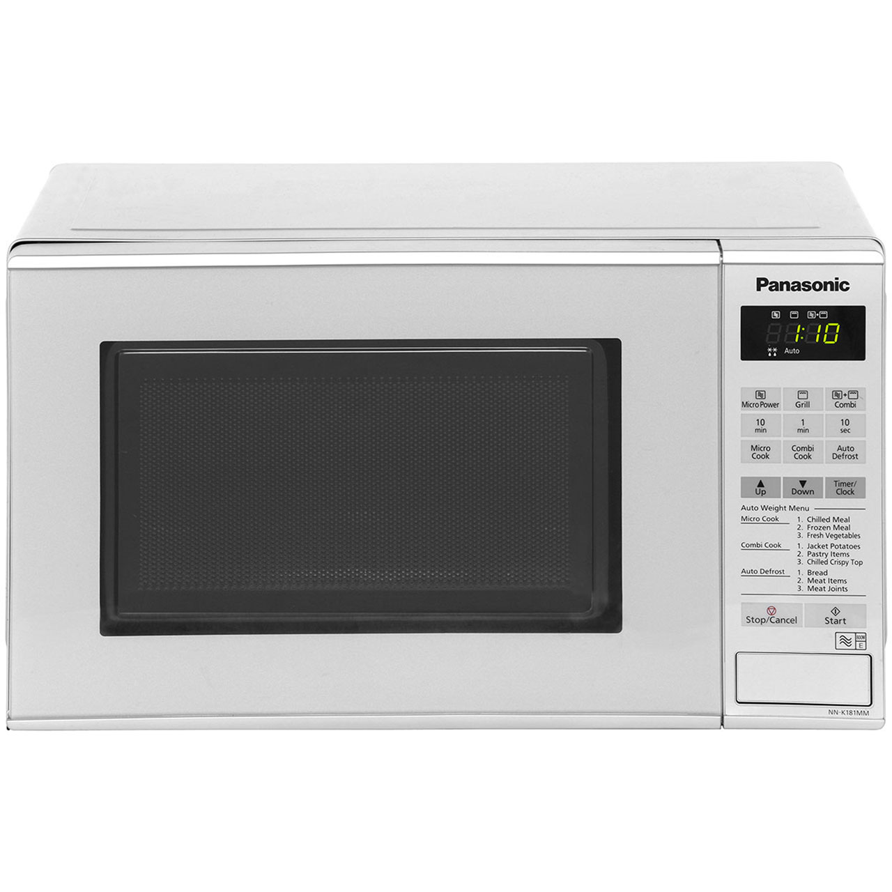 Panasonic NN-K181MMBPQ 20 Litre Microwave With Grill - Silver