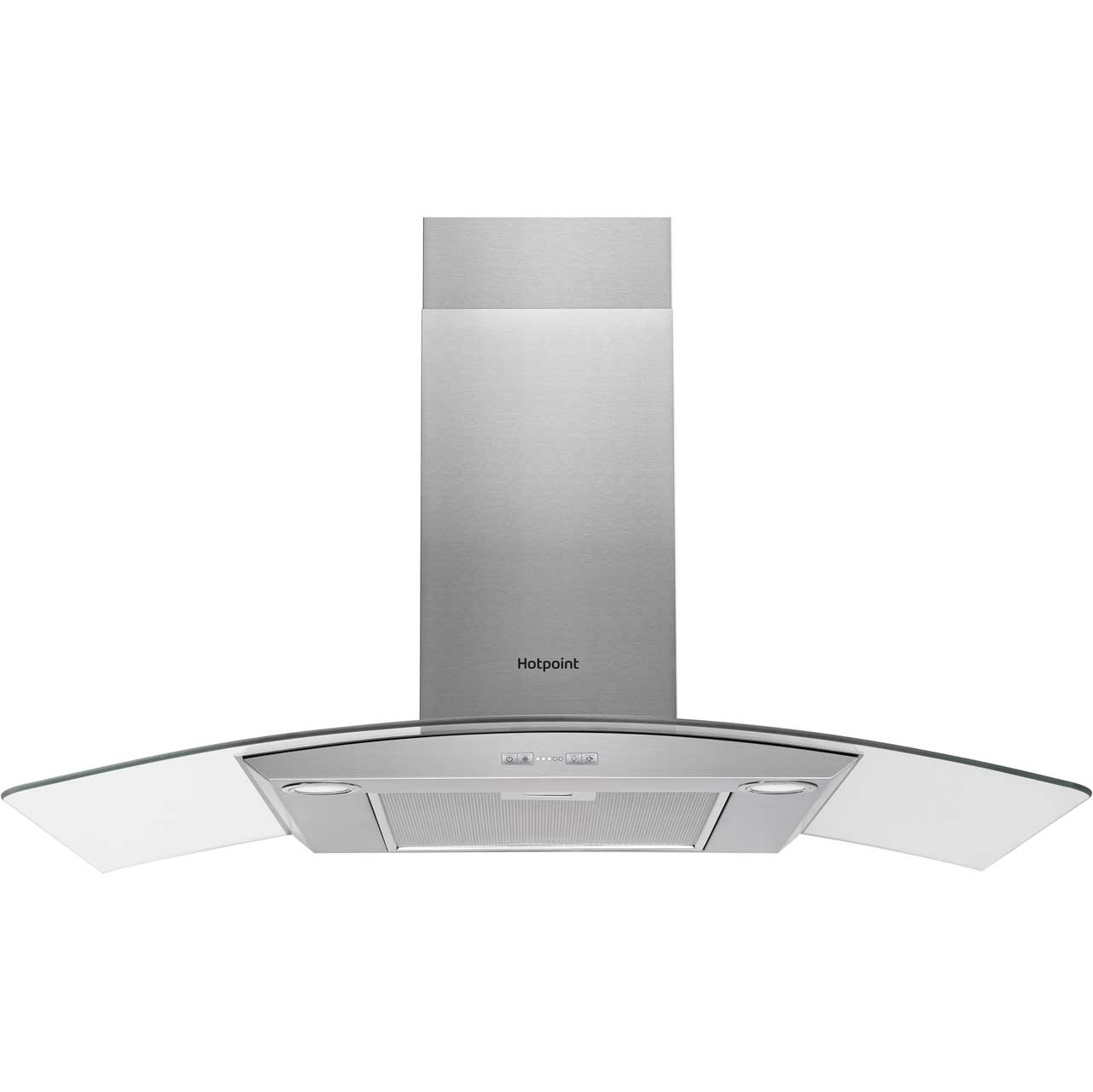 Cooker Hood With A Window ~ Hotpoint phgc fabx cm curved glass chimney cooker hood