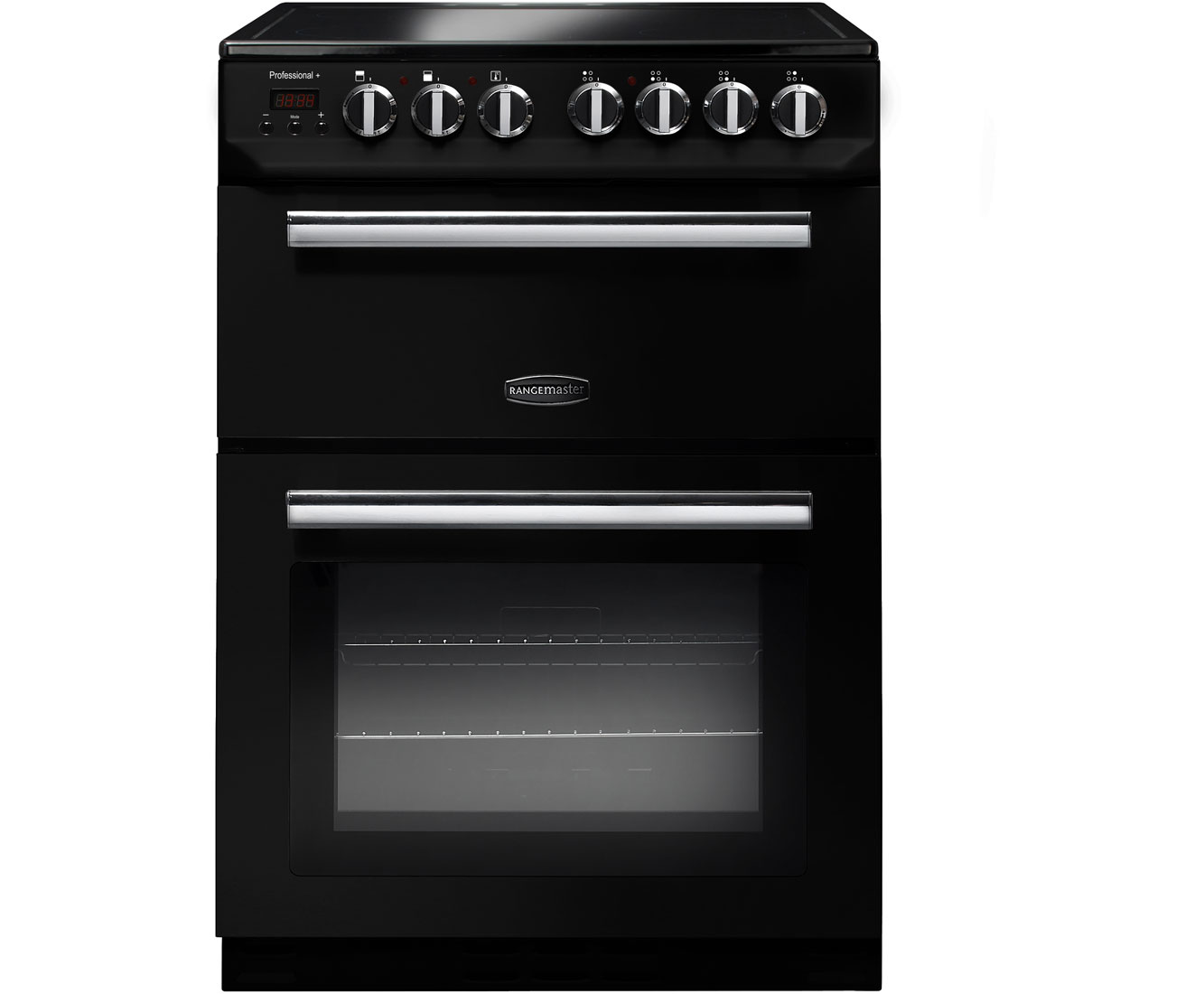 Rangemaster Professional Plus 60 PROP60ECBLC Free Standing Cooker in Black  Chrome