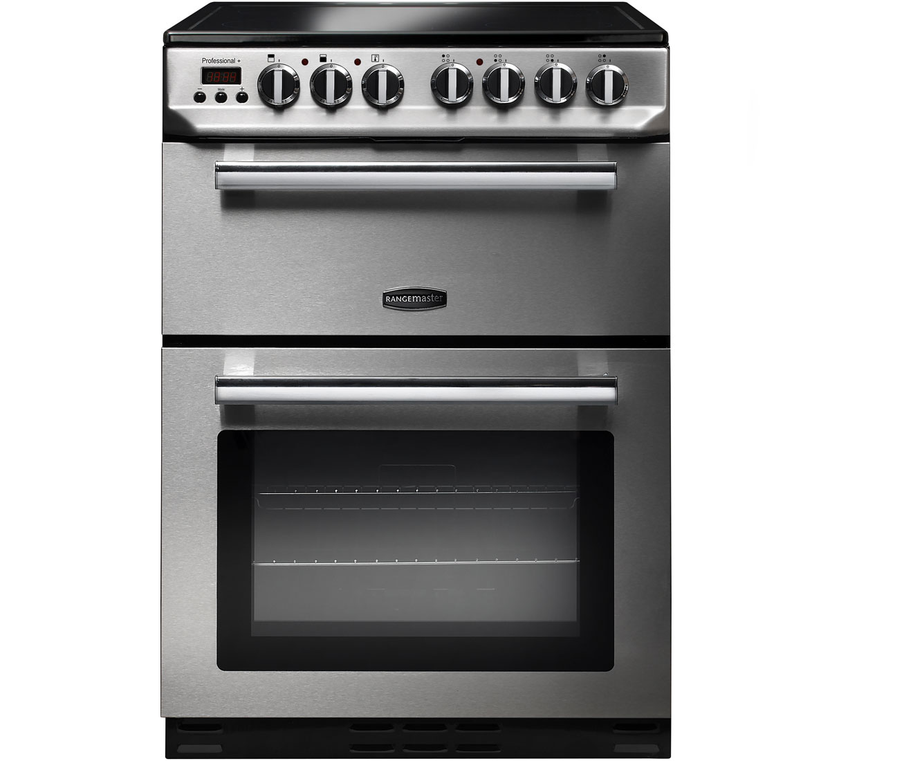 Rangemaster Professional Plus 60 PROP60ECSSC Free Standing Cooker in Stainless Steel  Chrome