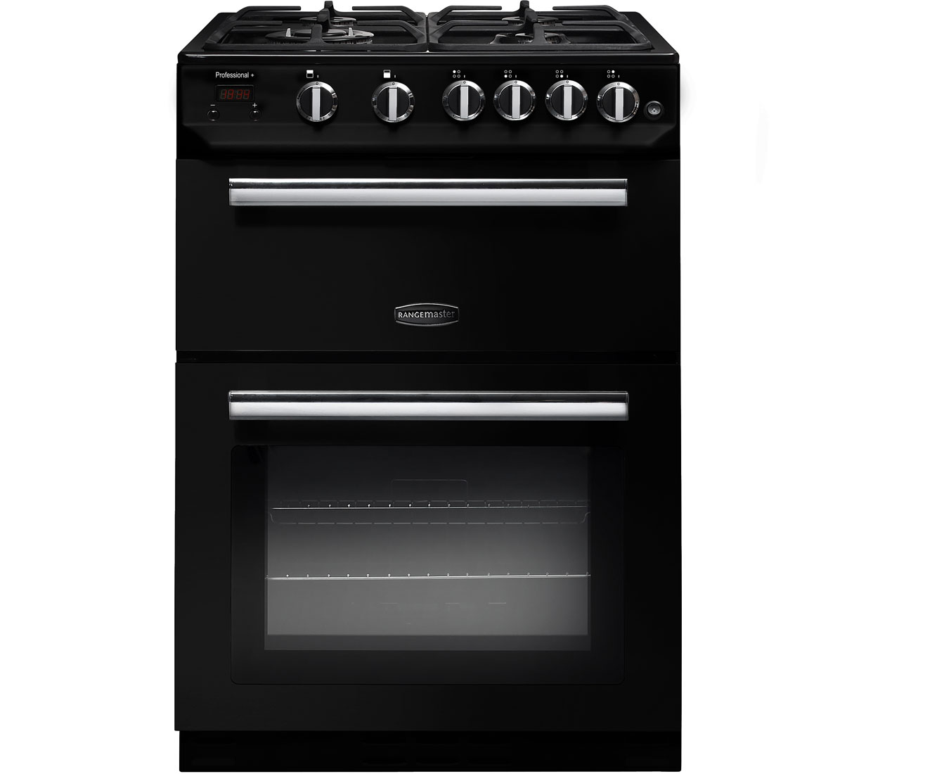 Rangemaster Professional Plus 60 PROP60NGFBLC Free Standing Cooker in Black  Chrome
