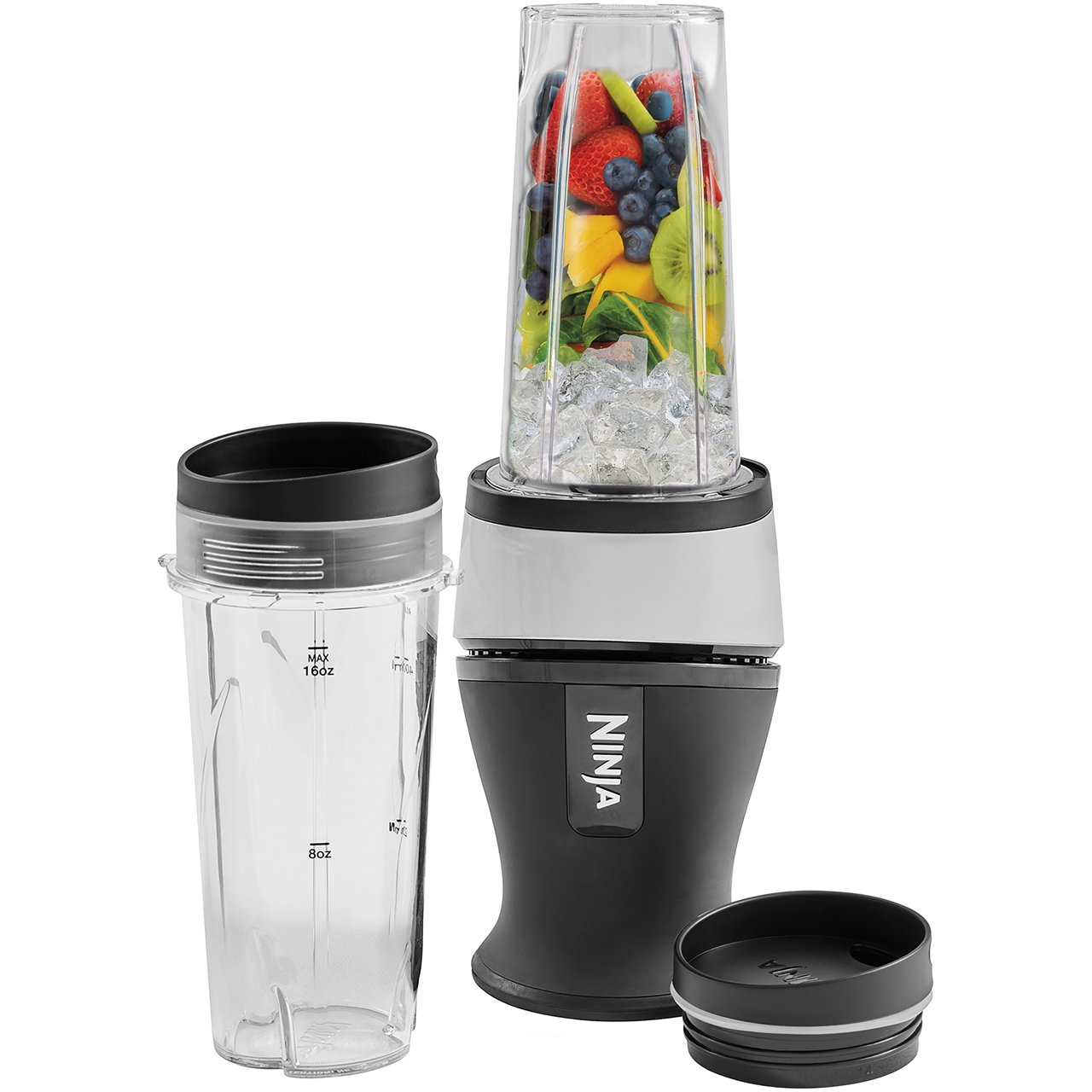 Ninja QB3001UK Smoothie Maker with 2 Drink Containers - Black