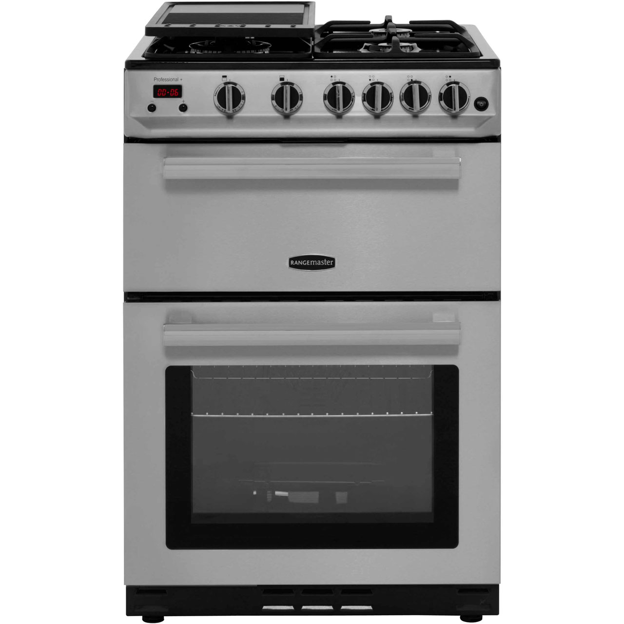 Rangemaster Professional Plus 60 PROP60NGFSSC Free Standing Cooker in Stainless Steel  Chrome