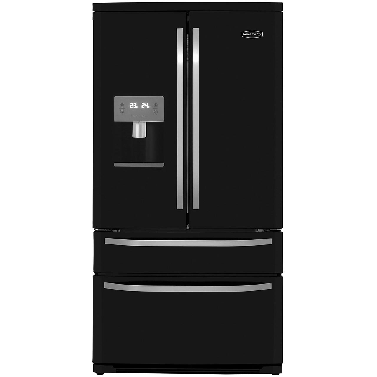 American Fridge Freezer With Drawers Part - 35: Rangemaster DXD RDXD15BL/C American Fridge Freezer - Black / Chrome