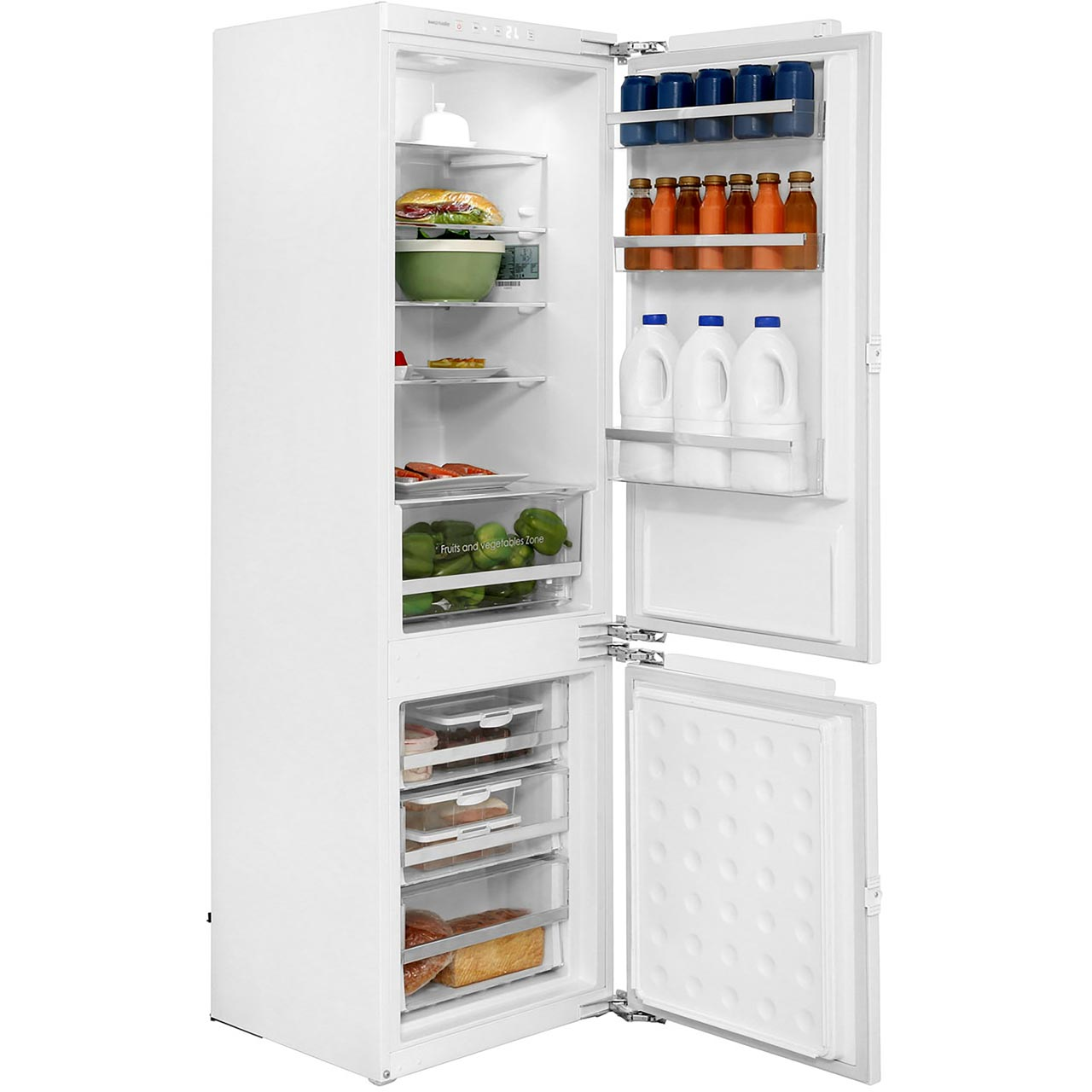 Rangemaster integrated fridge freezer
