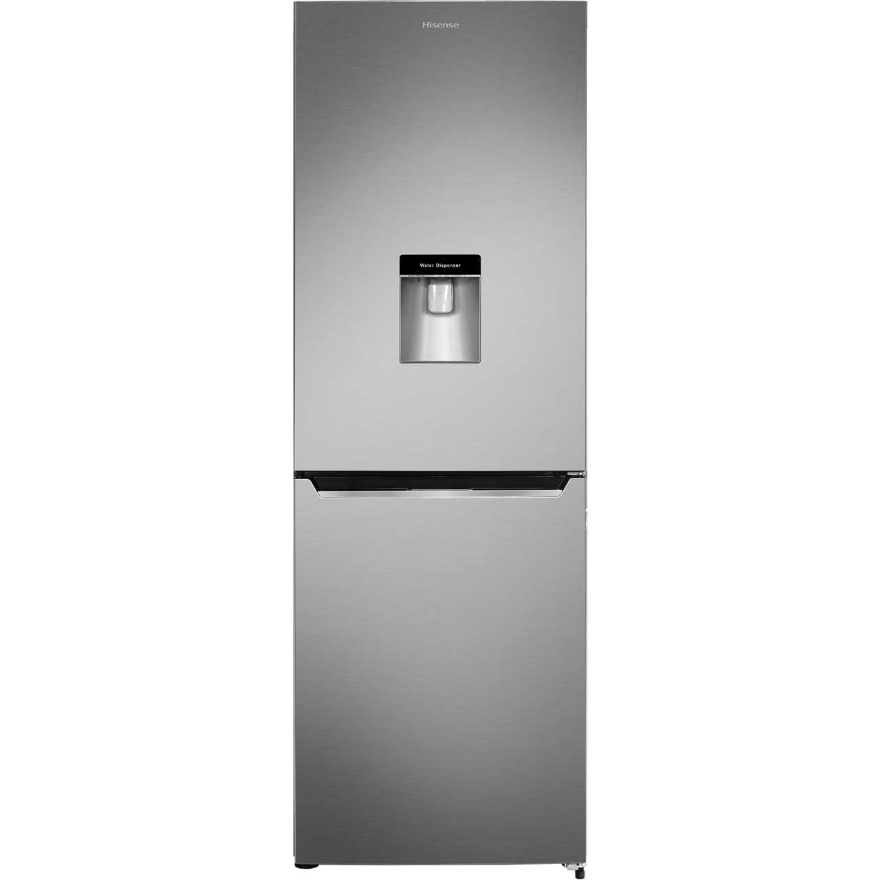 Hisense RB367N4WC1 Free Standing Fridge Freezer Frost Free in Stainless Steel Look