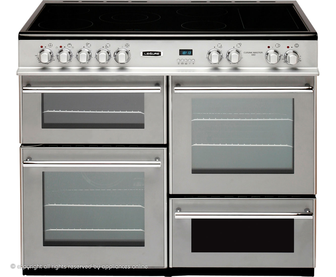 Ceramic hob range cookers