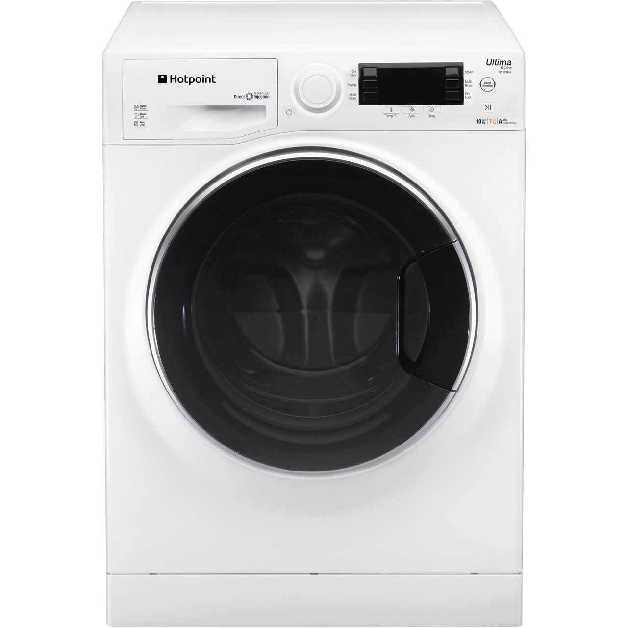 Hotpoint Ultima SLine RD1076JD Free Standing Washer Dryer in White