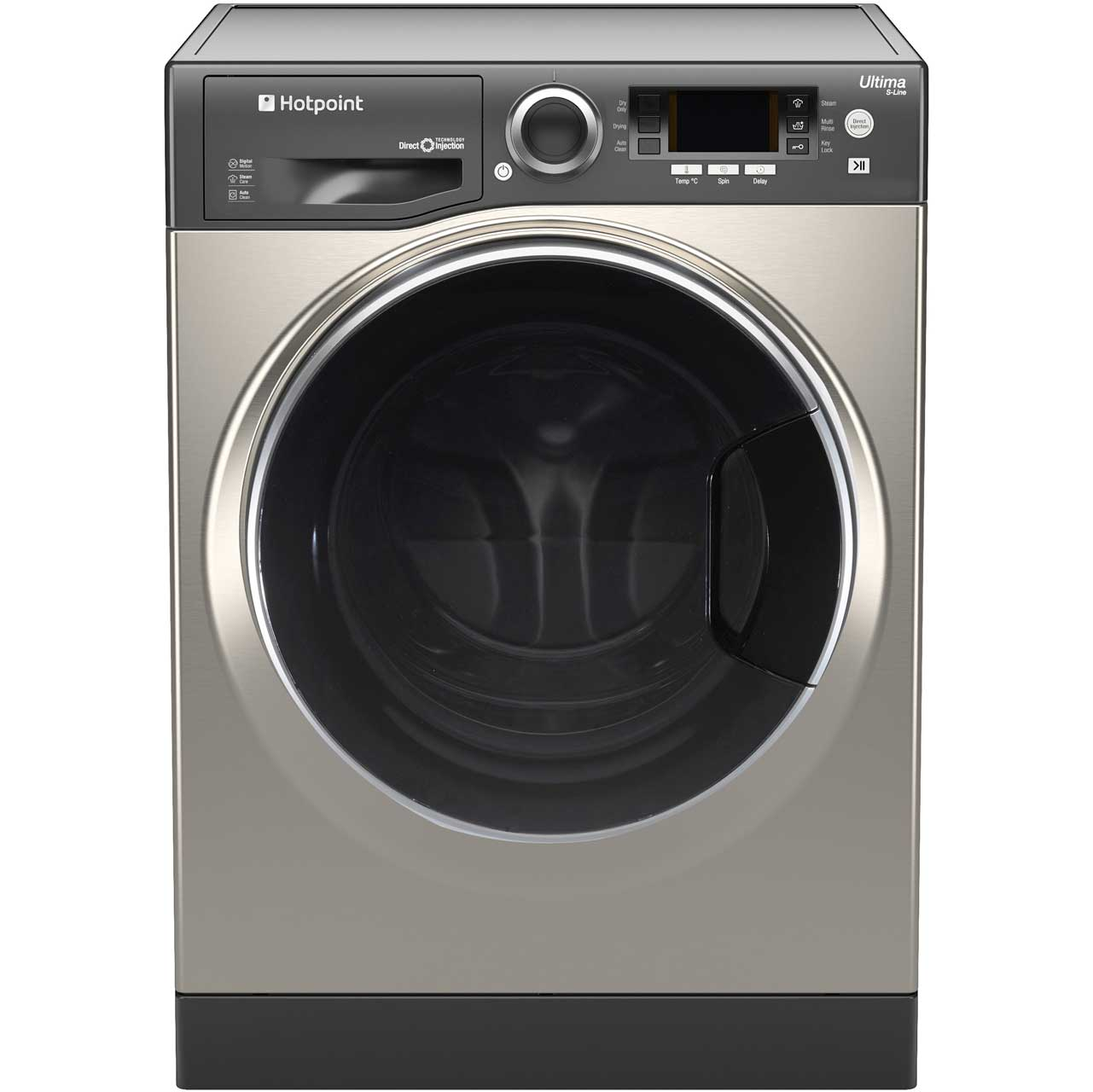 Hotpoint Ultima SLine RD966JGD Free Standing Washer Dryer in Graphite