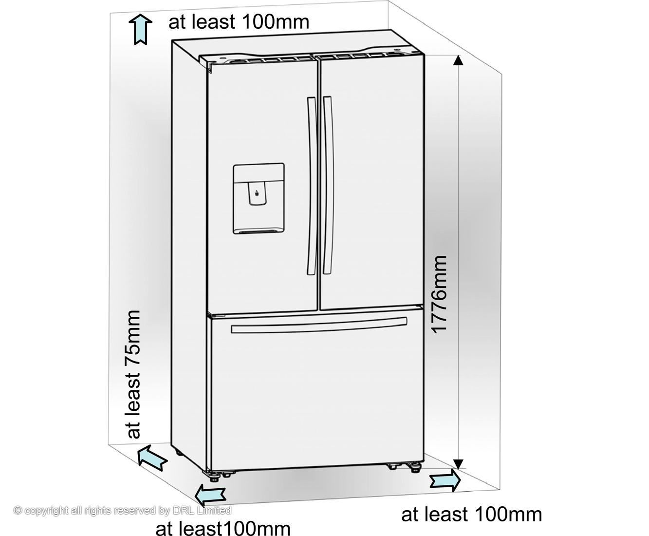 sc 1 st  AO.com & RF697N4ZS1_SS  Fridgemaster American fridge freezer  ao.com