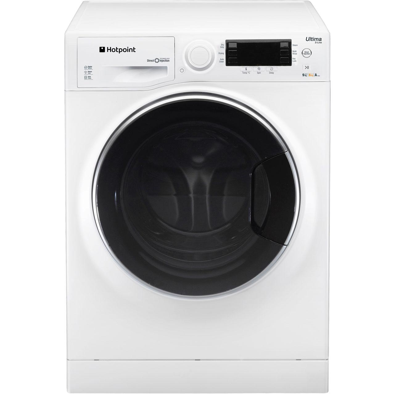 Hotpoint Ultima SLine RG964JD Free Standing Washer Dryer in White