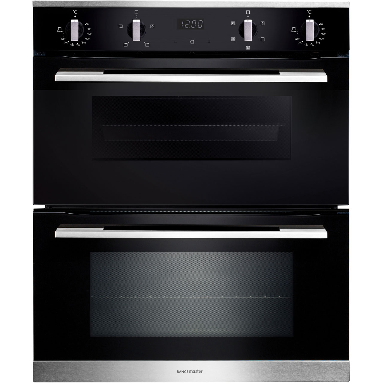 Rangemaster RMB7245BLSS Built Under Double Oven in Black