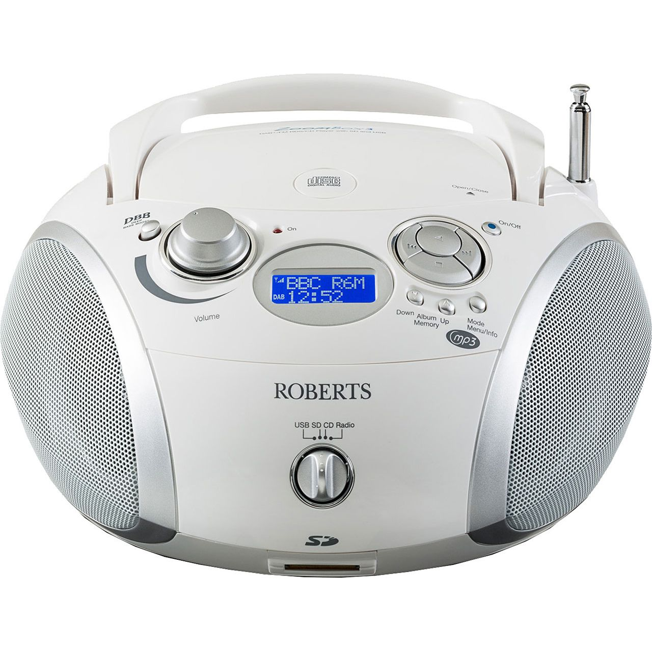 roberts radio zoombox 3 dab dab fm rds cd player with sd. Black Bedroom Furniture Sets. Home Design Ideas