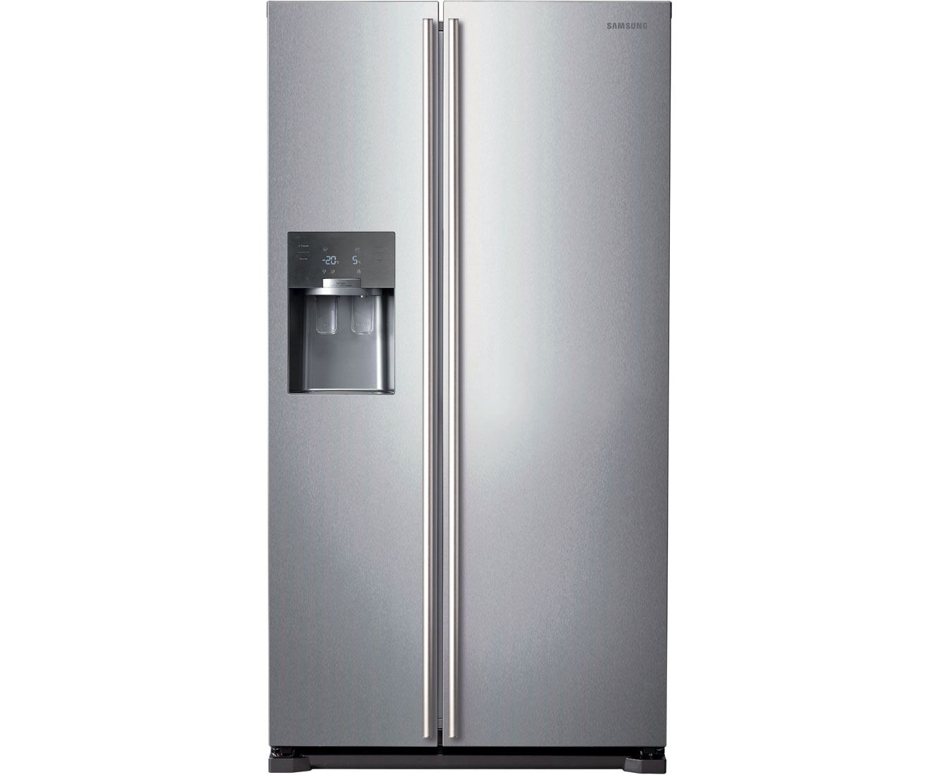Samsung HSeries RS7567BHCSP Free Standing American Fridge Freezer in Platinum Silver