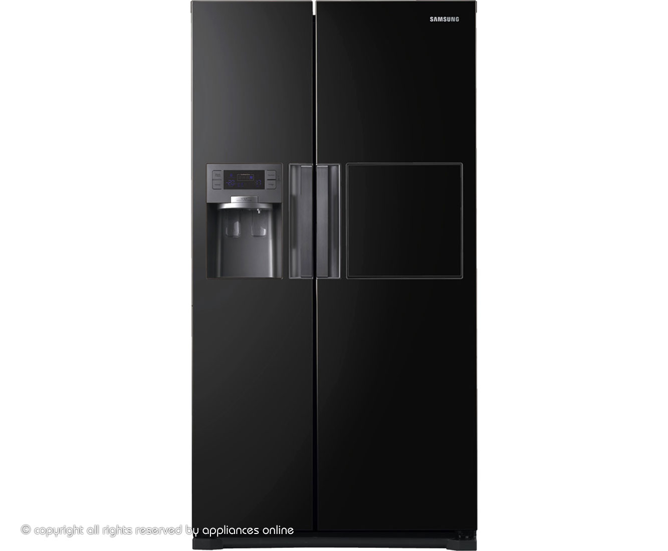 Samsung H-Series RSH7ZNBP American Fridge Freezer - Black