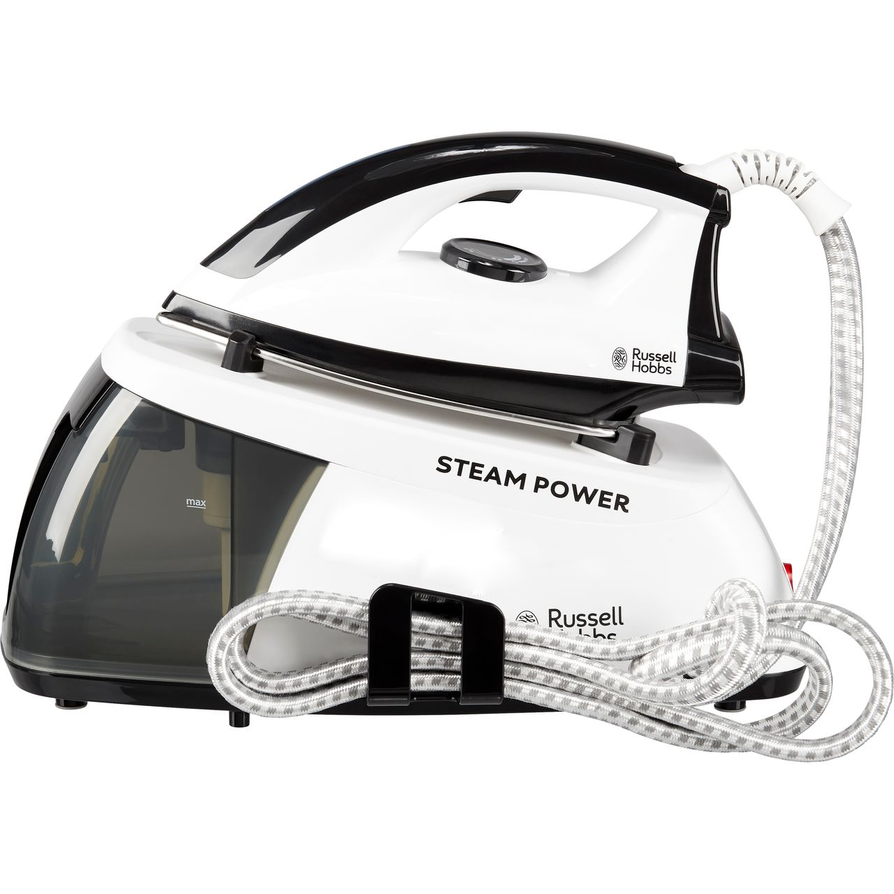 Russell Hobbs Pressurised Steam Generator Iron - Black / White
