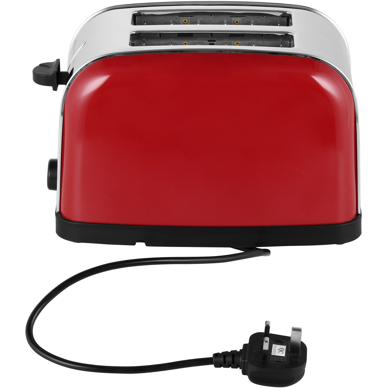 Russell Hobbs Red Dorchester 2-Slice Wide Slots Toaster Stainless Steel NEW