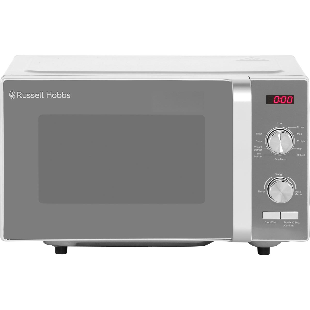 be10450e3733 ... Russell Hobbs RHFM2001S 19 Litre Microwave - Silver - RHFM2001S_SI - 1  ...