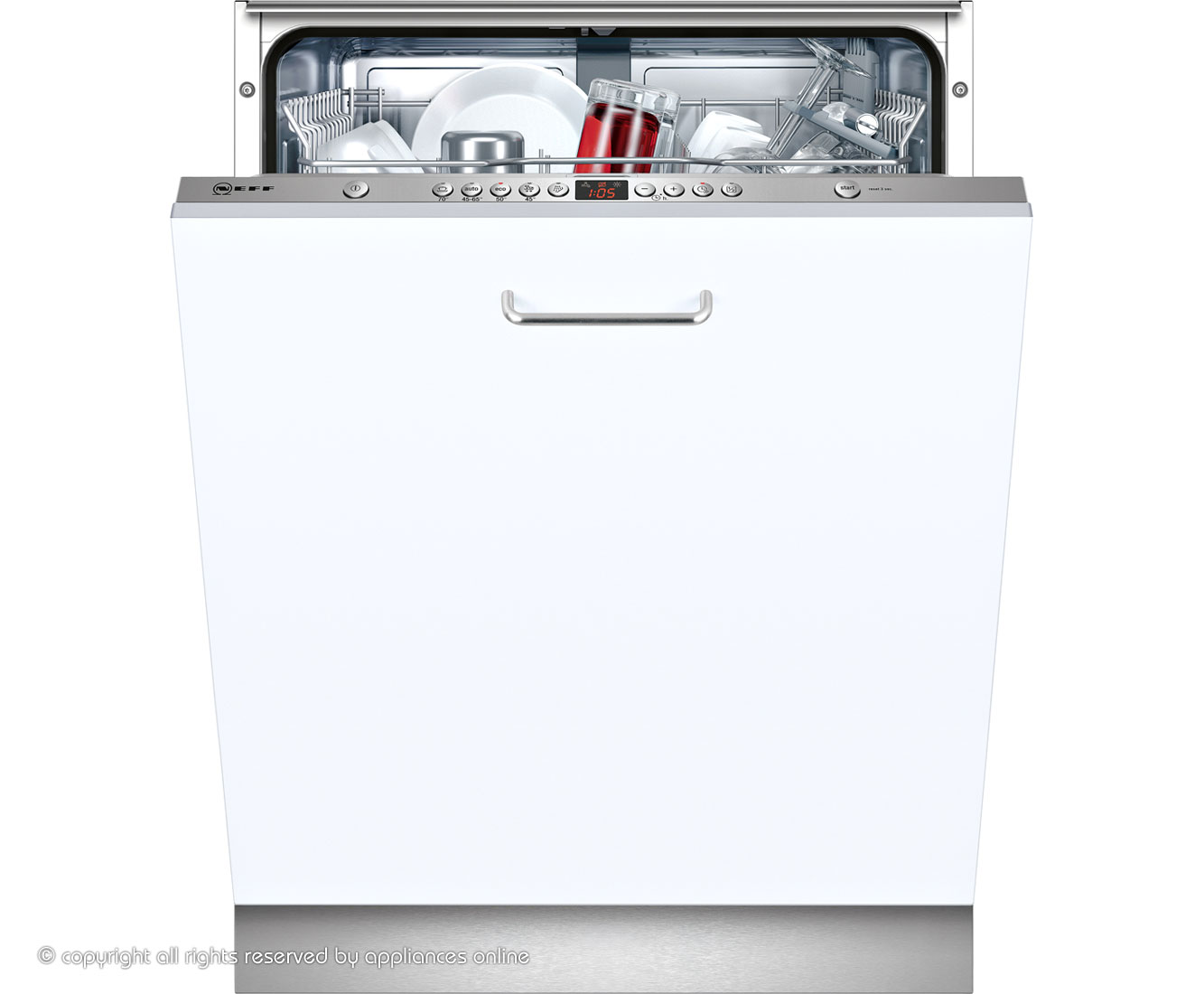 Neff S51M53X1GB Fully Integrated Standard Dishwasher - Stainless Steel