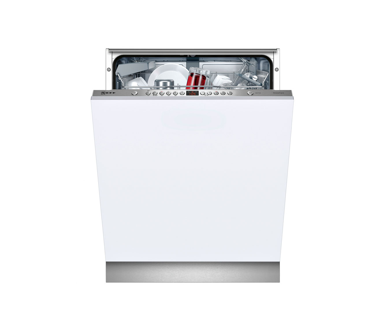 Neff S51M63X2GB Fully Integrated Standard Dishwasher - Silver