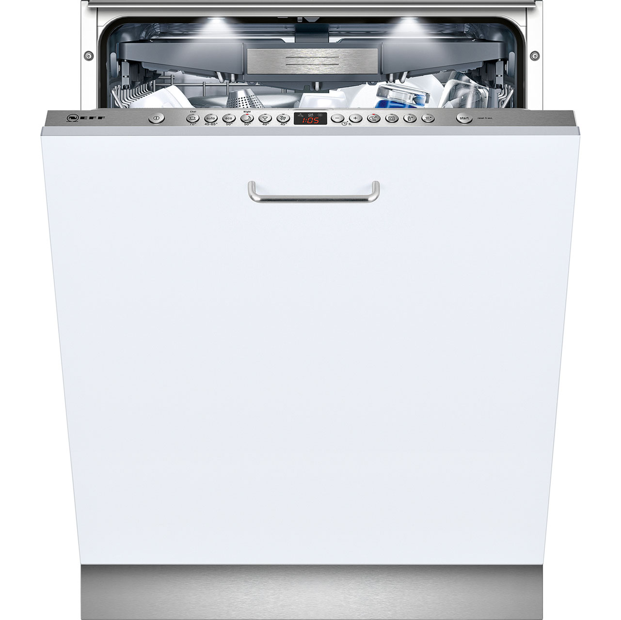 Neff S51M66X0GB Fully Integrated Standard Dishwasher - Stainless Steel