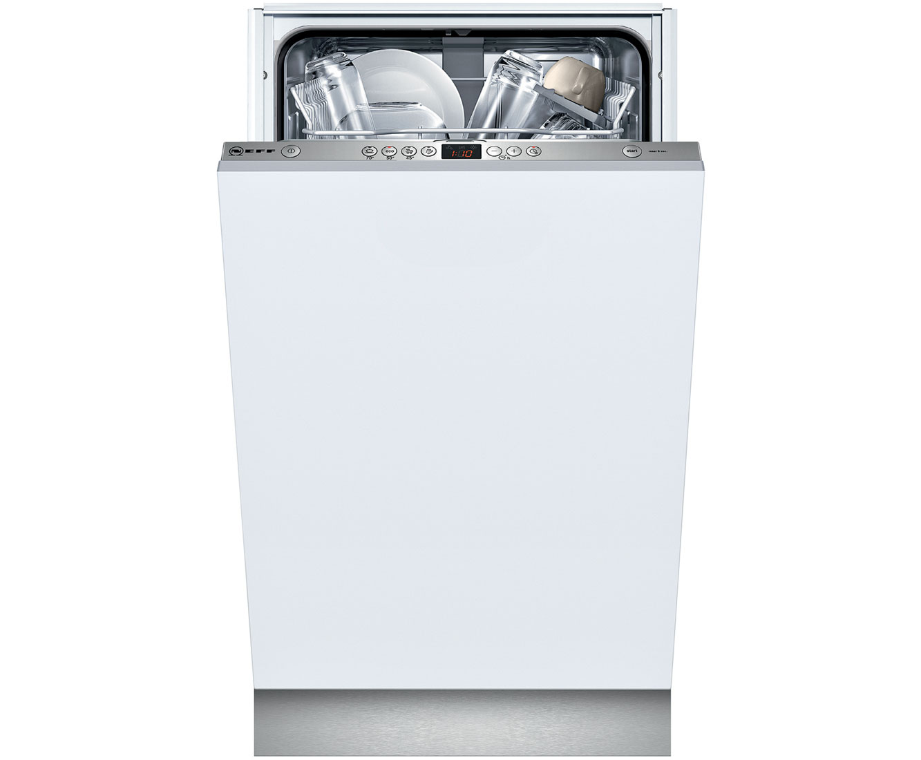 Neff S58M40X0GB Fully Integrated Slimline Dishwasher - Stainless Steel