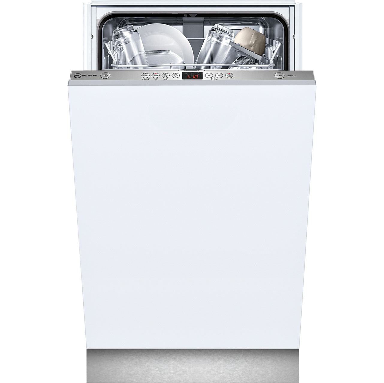 Neff S58T40X0GB Fully Integrated Slimline Dishwasher - Stainless Steel