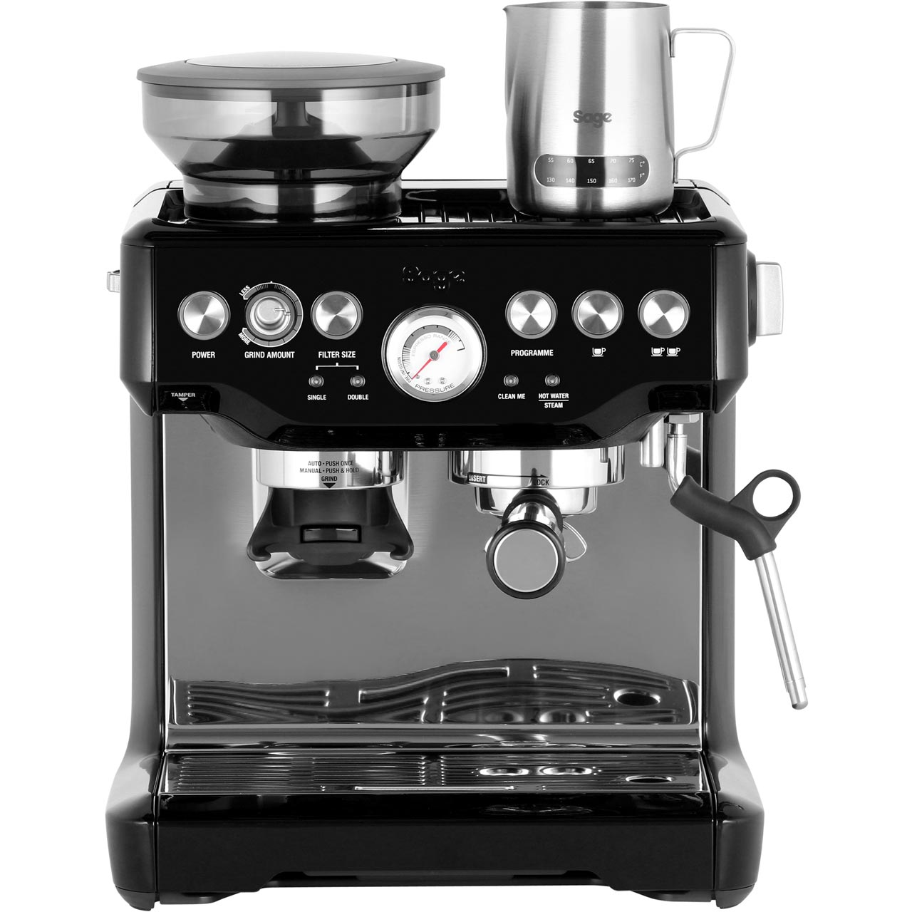 sage bes875bks the barista express espresso coffee machine. Black Bedroom Furniture Sets. Home Design Ideas