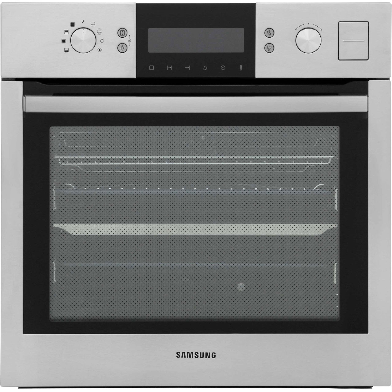 samsung geo dual cook steam bq1vd6t131 built in electric single oven stainless steel a rated. Black Bedroom Furniture Sets. Home Design Ideas