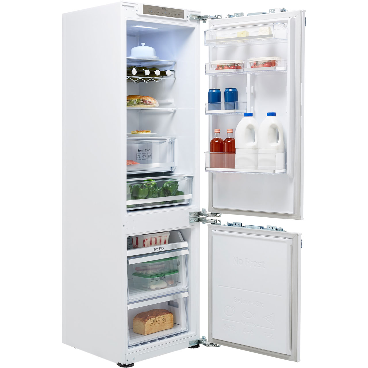 Samsung BRB260134WW Integrated 70/30 Frost Free Fridge Freezer with Fixed  Door Fixing Kit - White - A++ Rated