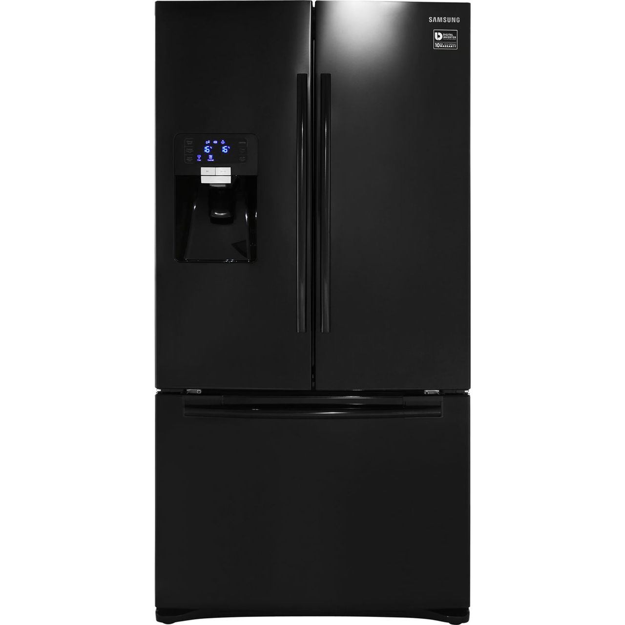Samsung GSeries RFG23UEBP Free Standing American Fridge Freezer in Black