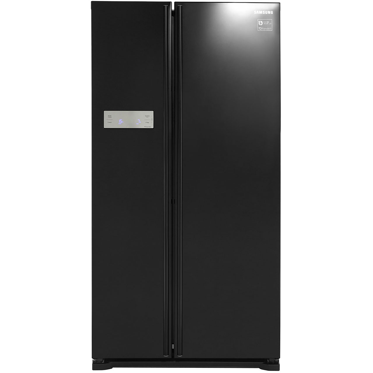 Samsung HSeries RS7527BHCBC Free Standing American Fridge Freezer in Black Gloss